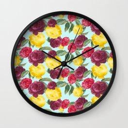 Roses Medley Wall Clock