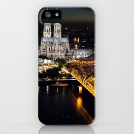 Cologne Cathedral and Hohenzollern Bridge iPhone Case