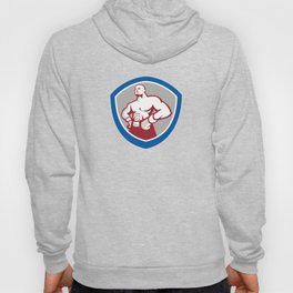 Boxer With Hands on Hips Shield Hoody