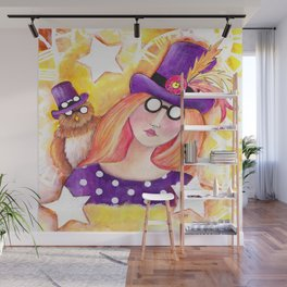 Steampunk Girl Wall Mural