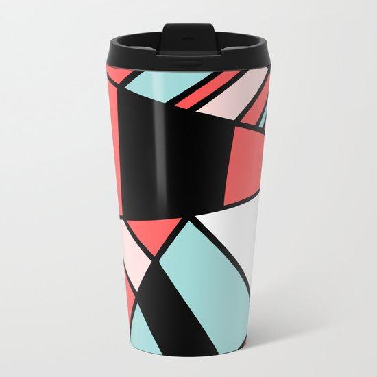 Abstract #451 Metal Travel Mug