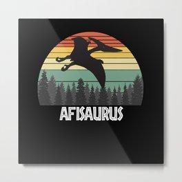 AFISAURUS AFI SAURUS AFI DINOSAUR Metal Print