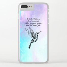 Langston Hughes - Hold Fast to Dreams Clear iPhone Case