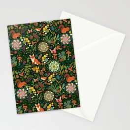 Treasures of the emerald woods Stationery Cards
