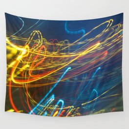 Abstract City Night - Light Painting Wall Tapestry