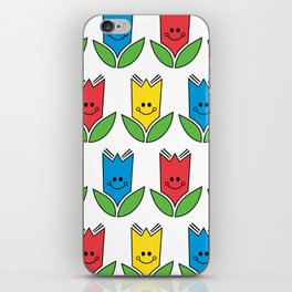 Flowers Of Primary Colors - Fleurs Aux Couleurs Primaires iPhone Skin