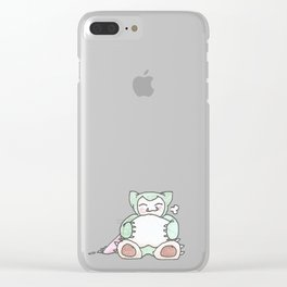 Hungry Snorlax (by Ian) Clear iPhone Case