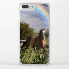 pot of gold Clear iPhone Case