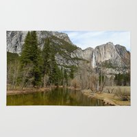 yosemite Area & Throw Rugs featuring Yosemite Valley by Dee Reimer