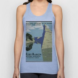 Fort Marion National Monument, St. Augustine, Florida Unisex Tank Top