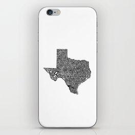 Typographic Texas iPhone Skin