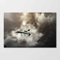ghost busters Canvas Prints featuring A-10 Tank Busters by Airpower Art