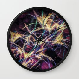 FEATHERED FLOWERS Wall Clock
