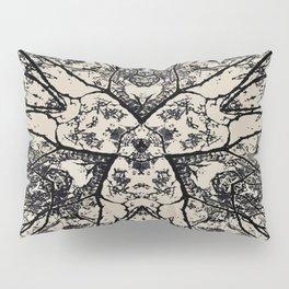 Black Flora No 1 Pillow Sham