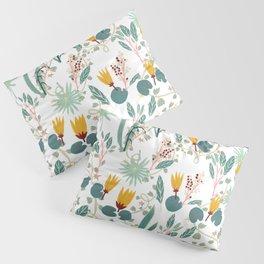 Spring Gardens Glowing Lotus White Pillow Sham