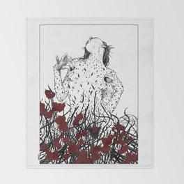 asc 428 - La reine des épines (Queen of pain) Throw Blanket