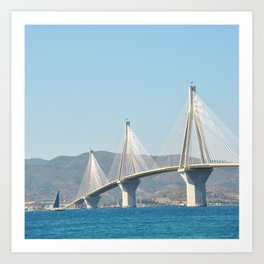 Rio Antirrio Bridge Art Print