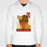 gryffindor Hoodies featuring Gryffindor Lion by makoshark