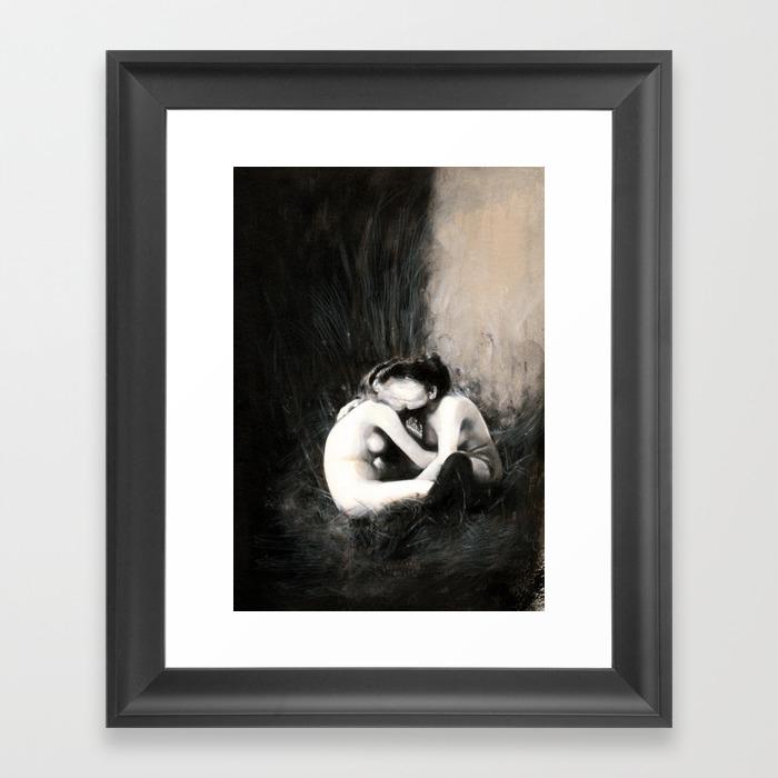I Melt With You Framed Art Print by Baddanielle FRM8597687