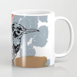 Northern Flicker Abstract Woodpecker Bird and Sun Coffee Mug
