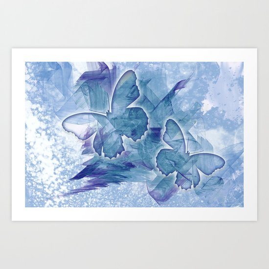 Fly butterfly fly Art Print