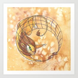 Aesop's Fables - The Lion and the Mouse Art Print