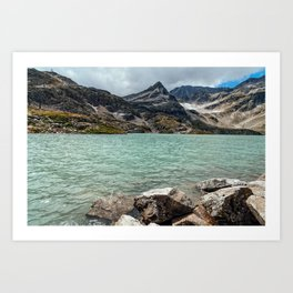 Weissee lake in Alps Art Print