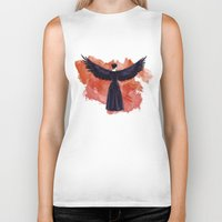 cyrilliart Biker Tanks featuring Mockingjay by Cyrilliart