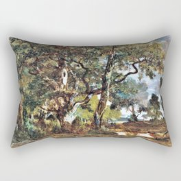 Forest Of Fontainebleau - Theodore Rousseau Rectangular Pillow