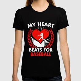 My Heart Beats For Baseball T-shirt