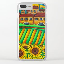 Colours of Tuscany Clear iPhone Case
