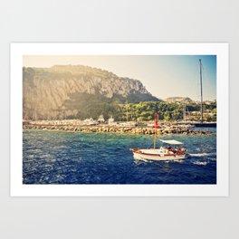 Capri in Sunlight  Art Print