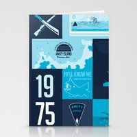 jaws Stationery Cards featuring Jaws! by tim weakland