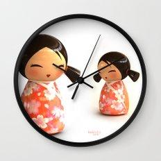 Kokeshi 07 Wall Clock