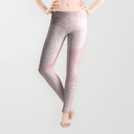 Radial Block Print in Pink Leggings