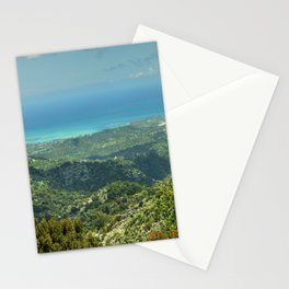 Unique view from the East Peak (hidden) road - El Yunque rainforest PR Stationery Cards