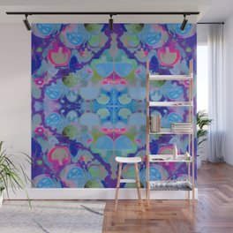 Staycation (blue) Wall Mural