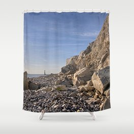 First Glimpse - Beachy Head Shower Curtain