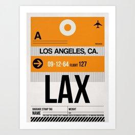 LAX Los Angeles Luggage Tag 2 Art Print
