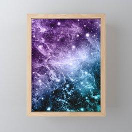 Purple Teal Galaxy Nebula Dream #4 #decor #art #society6 Framed Mini Art Print