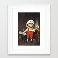 mario Framed Art Prints featuring Mario by Linus Carlsson / LC art