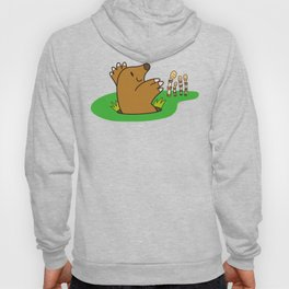 a Mole from the ground greets horsetail Hoody