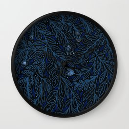 Winter Flowers Wall Clock