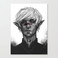 dragon age Canvas Prints featuring Dragon Age - Fenris by eristhenat