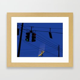 One Afternoon On The Way Home From Work Framed Art Print