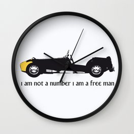 i am not a number Wall Clock