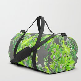 Chartreuse pattern Duffle Bag