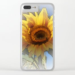 Greeting the rising sun Clear iPhone Case
