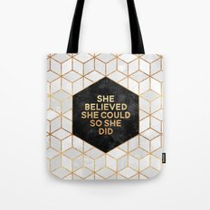 She believed she could so she did 2 Tote Bag