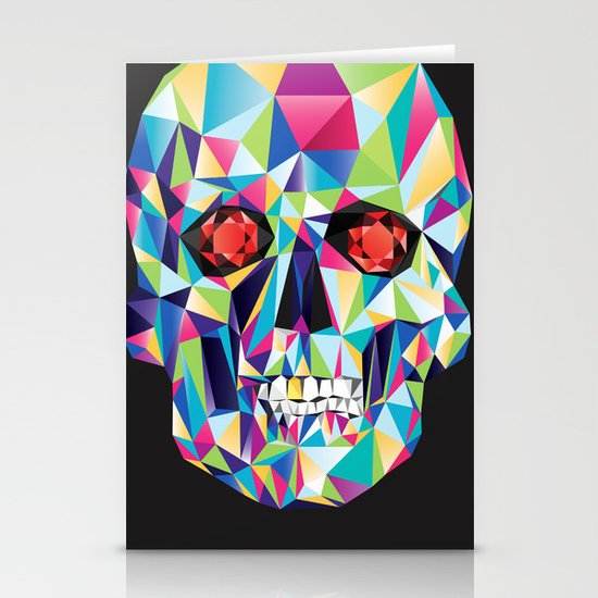 Geometric Candy Skull Stationery Cards
